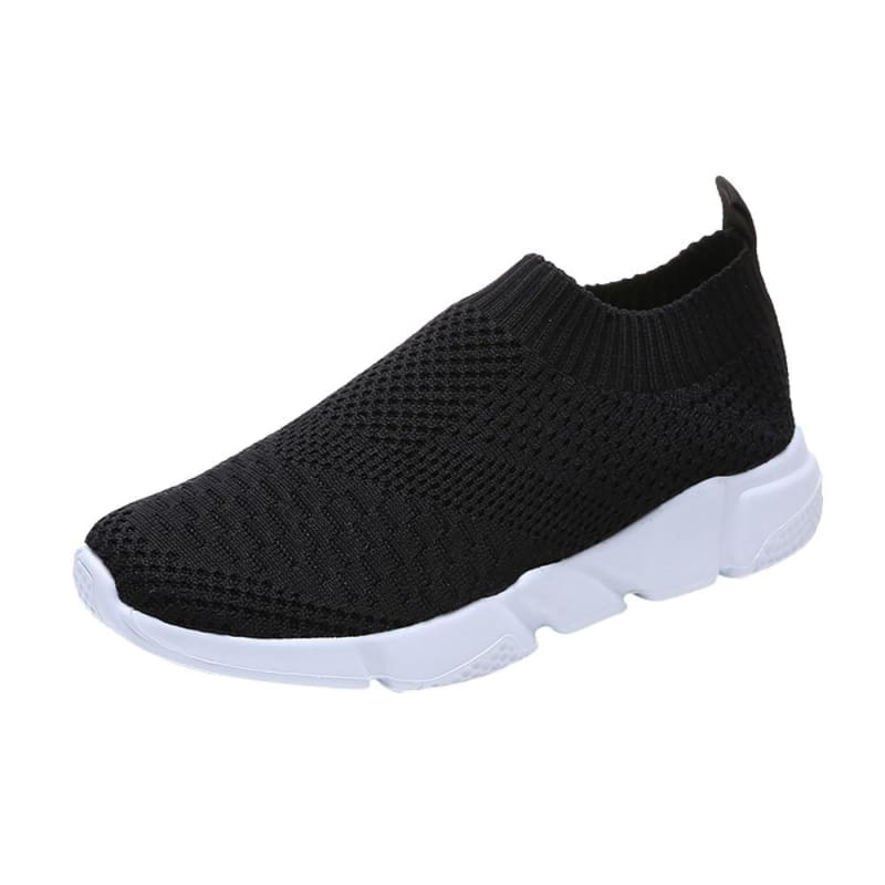 Breathable Elastic Cloth Slip On - Black / 36 - Womens Flats