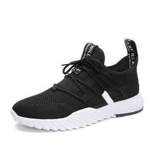 Breathable Mesh Shoes Sneakers - Black white / 7 - Shoes Sneakers