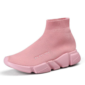 Breathable Mesh Couple Shoes Women and Men - Pink / 35 - Shoes Sneakers