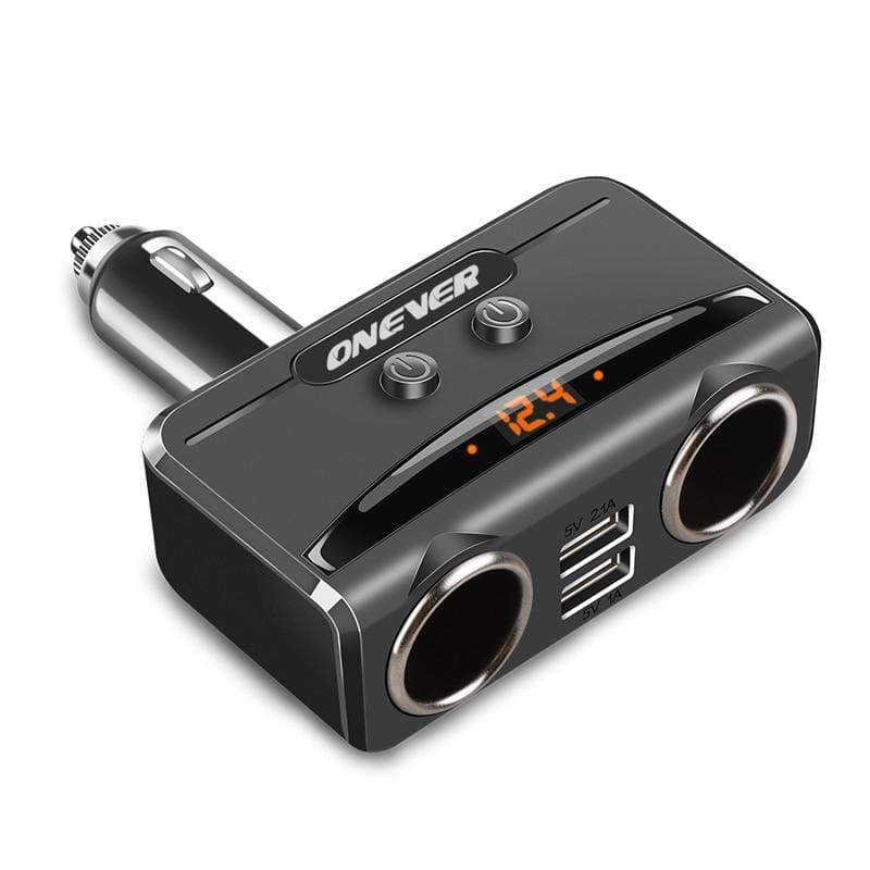 Car USB Cigarette Lighter - Black - Power Adapter