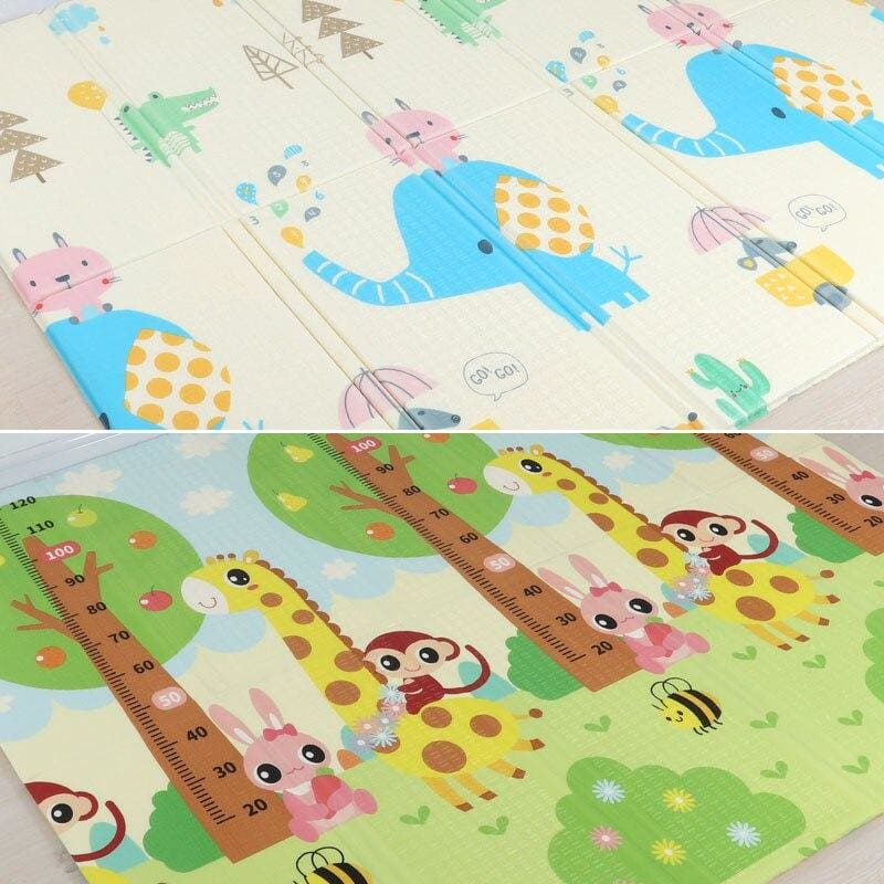 Carpet Children Anti-skid Game Mat - Elephant and Giraffe / 180X200CM 70X78IN - Children Mat