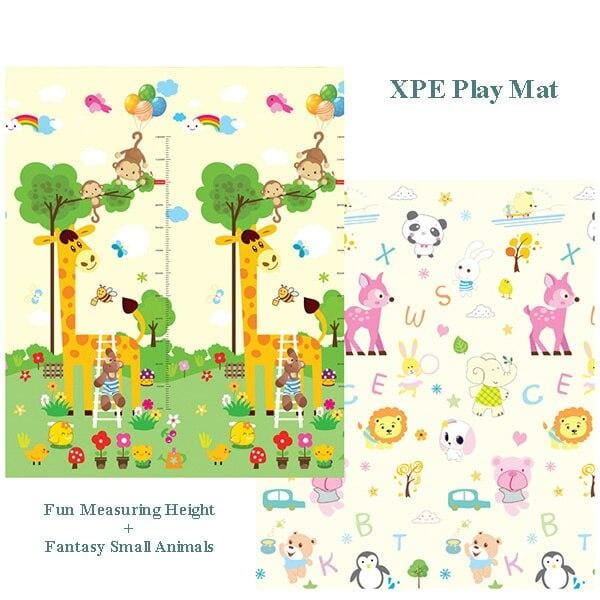Carpet Children Anti-skid Game Mat - Giraffe and Animals / 180X200CM 70X78IN - Children Mat