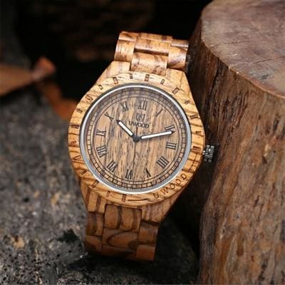 Casual Bamboo Wood Watch - Coffee - Quartz Watches