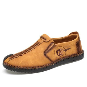 Casual Shoes Loafers Men Shoes - Yellow 01 / 6.5 - Leather Shoes