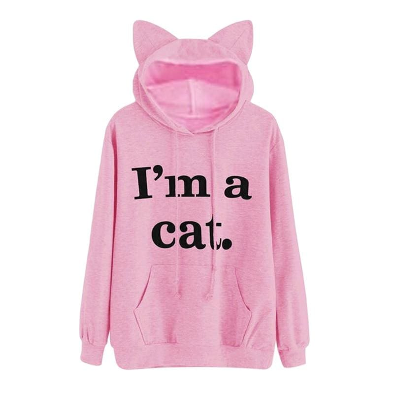 Cat Hoodies with Ear Cap - Hoodies & Sweatshirts
