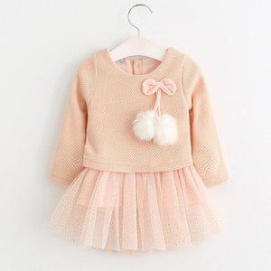 Christmas Baby Dress - AX056 Pink / 18M - Dresses