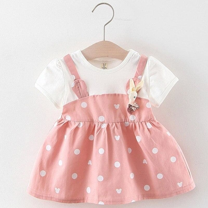 Christmas Baby Dress - AX1043 -pink / 12M - Dresses