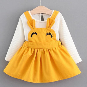Christmas Baby Dress - AX249 Yellow / 24M - Dresses