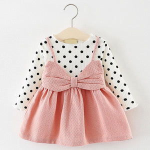 Christmas Baby Dress - AX870 Pink / 24M - Dresses