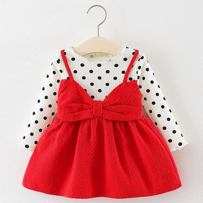 Christmas Baby Dress - AX870 Red / 12M - Dresses