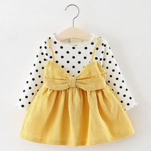 Christmas Baby Dress - AX870 Yellow / 18M - Dresses