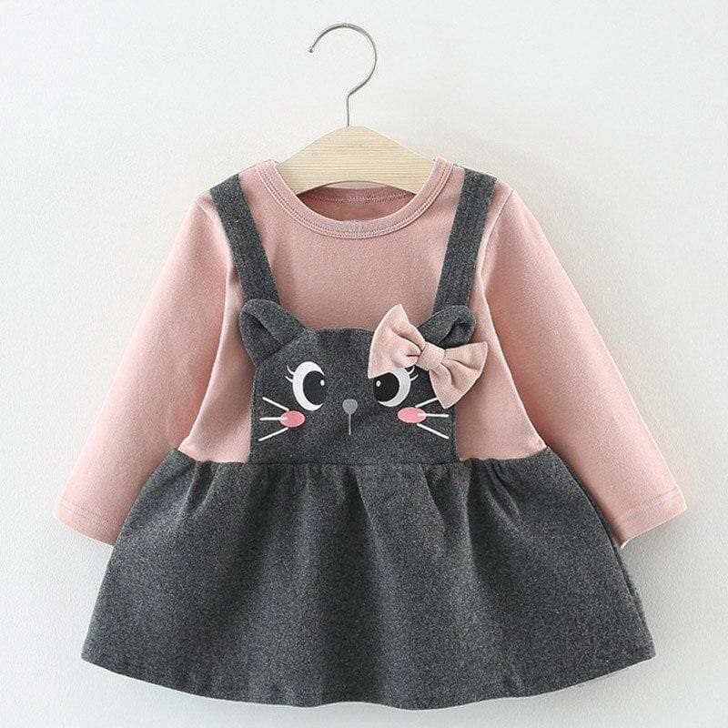 Christmas Baby Dress - AX898-Pink / 18M - Dresses