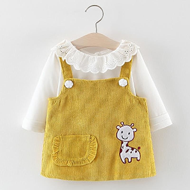 Christmas Baby Dress - AY785 Yellow / 18M - Dresses