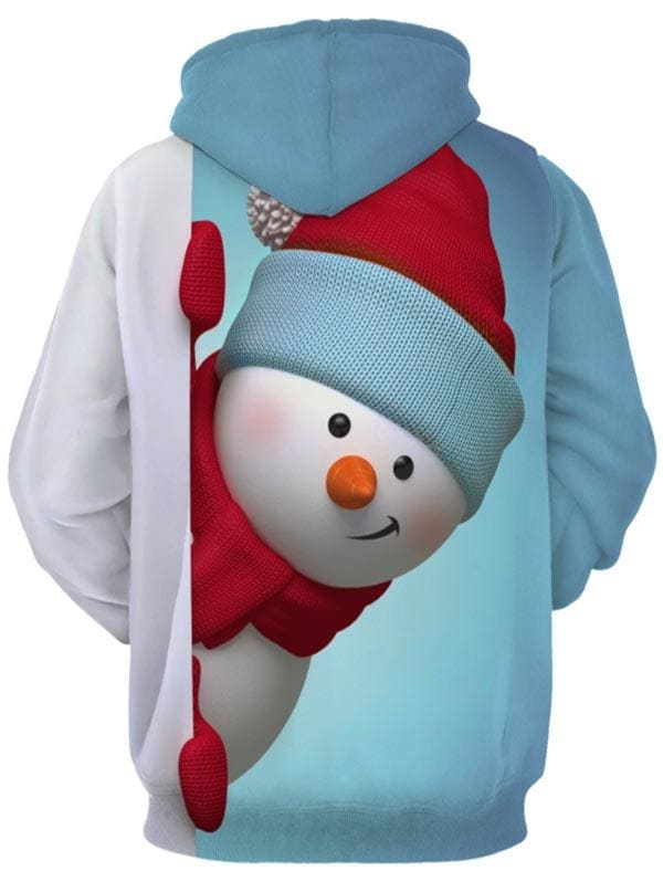 Christmas Hoodie Kangaroo Pocket Snowman - Christmas Hoodies