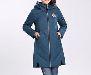 Thin Cotton Parka Women Just For You - ink blue / M - Women Coat