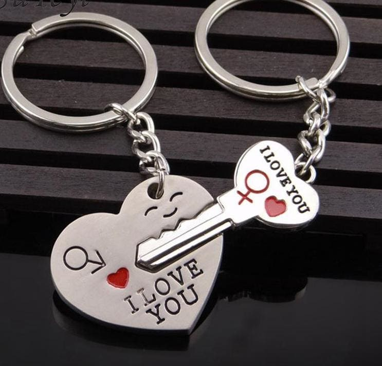 Couple Heart Key Ring - Key Chains