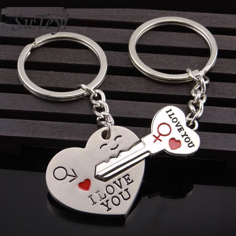 Couple Heart Key Ring - 1 - Key Chains
