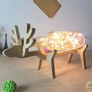 Creative Wood Deer Lamp - Clear / Button Switch - Night Lights