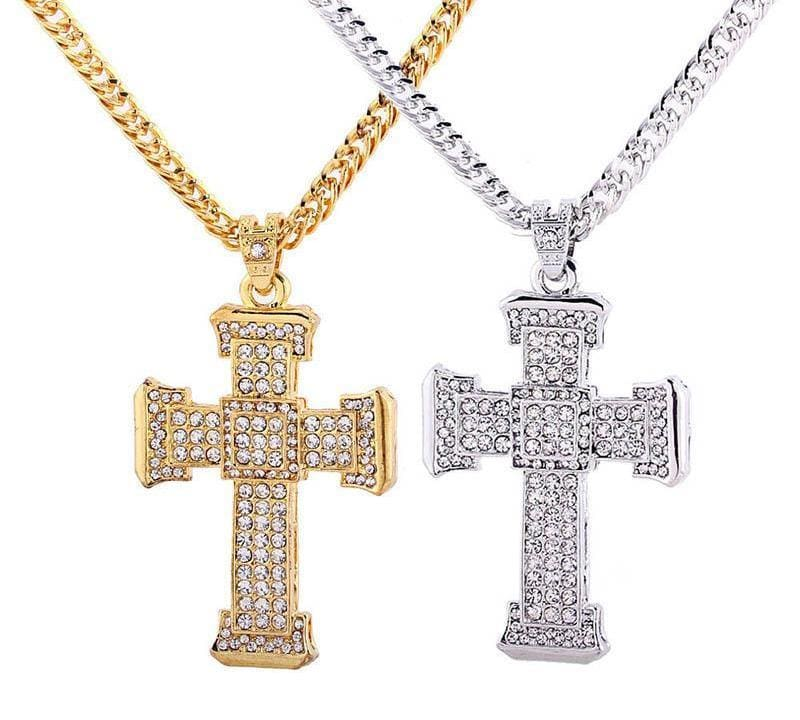 Crystal Cross Pendant - Pendant Necklaces