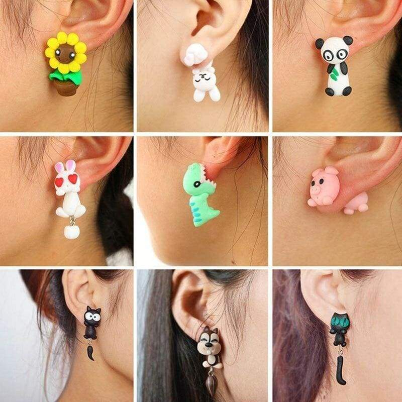 Cute Animal Earrings - Stud Earrings
