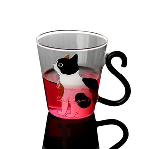 Cute Cat Glass Cup Just For You - Mugs