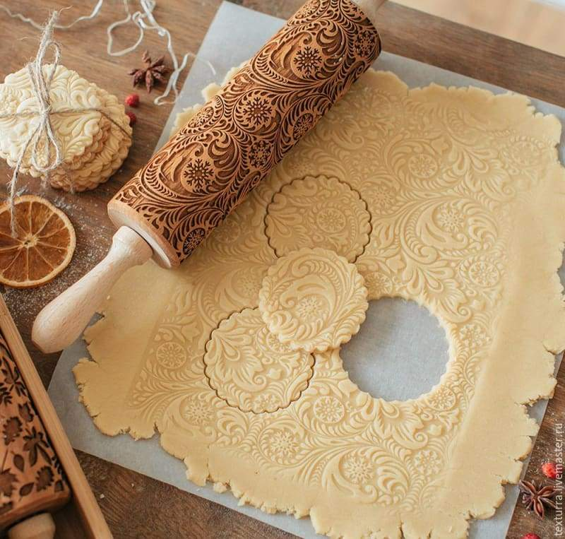 Decorative Rolling Pins Just For You - 35 CM - christmas embossing rolling pin