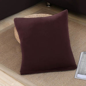 Decorative Square Cushion Covers - 45X45 Cushion cover / Coffee - Cushion Cover
