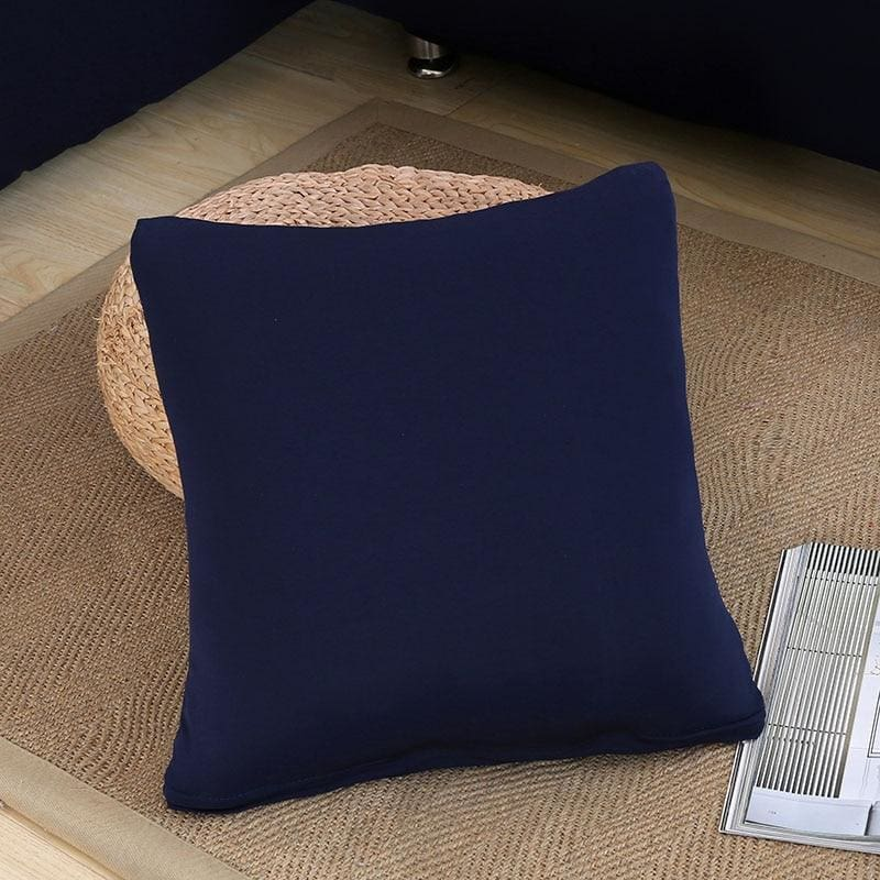 Decorative Square Cushion Covers - 45X45 Cushion cover / Navy Blue - Cushion Cover