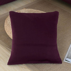 Decorative Square Cushion Covers - 45X45 Cushion cover / Red Bean - Cushion Cover