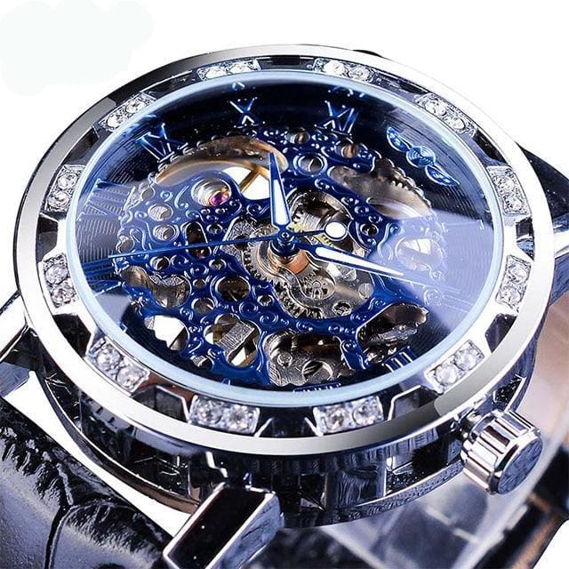 Diamond Mechanical Wrist Watch - Black - Mechanical Watches