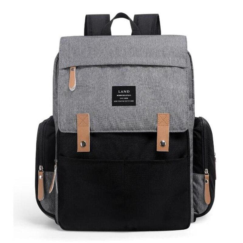 Diaper Bags for Baby Just For You - Black Gray - Backpacks