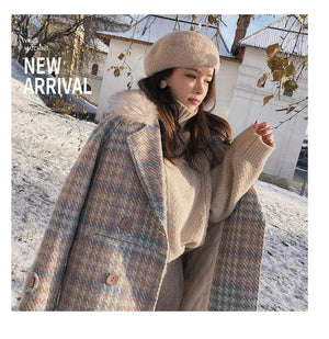 Double Breasted Woolen Coat Just For You - Woolen Coat