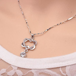 Double Heart Rose Gold Pendant - Pendant Necklaces