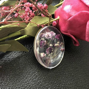 Dried Flower Necklace - style 3 - Pendant Necklaces