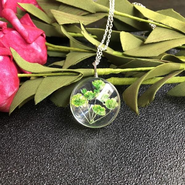 Dried Flower Necklace - style 7 - Pendant Necklaces