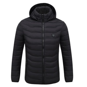 Electric Heated Jacket Vest Womens Mens - Black / L - Electric Heated Jacket Vest Womens Mens