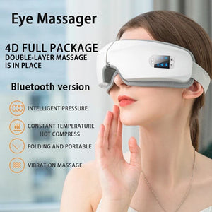 Smart Airbag Vibration Eye Massager - Pearl White - Eye Massager1