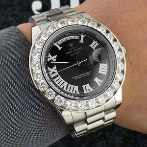 Face diamond watch Just For You - Black 1 - Quartz Watches
