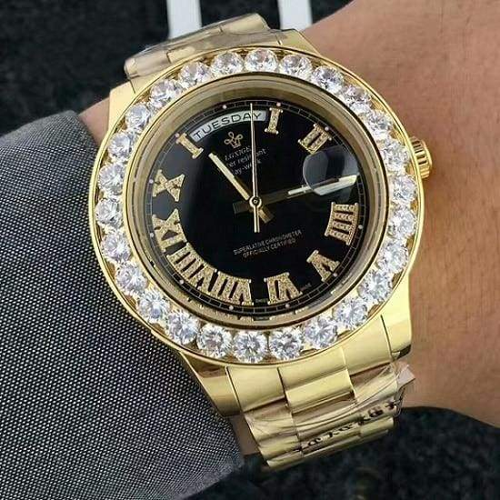 Face diamond watch Just For You - GoldBlack 3 - Quartz Watches