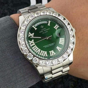 Face diamond watch Just For You - Green 7 - Quartz Watches
