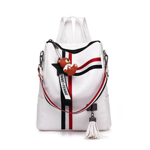 Fashion Retro Backpack Just For You - White - Backpacks