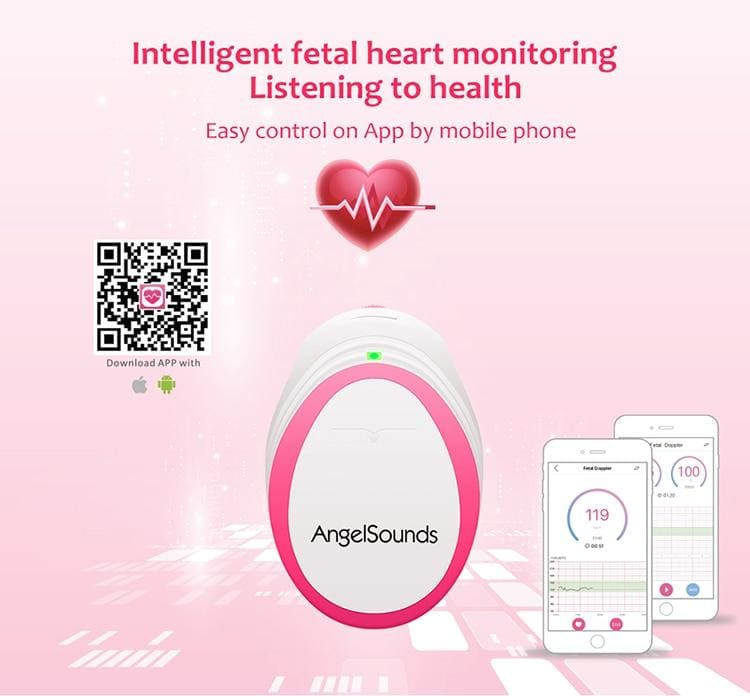 Fetal Doppler Baby Heartbeat Monitor - Baby Heartbeat Monitor