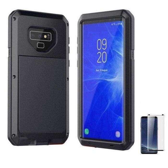 Glass Film+ Full Protective luxury doom armor Case Metal Case Samsung - Black / for Samsung S8 - Fitted Cases
