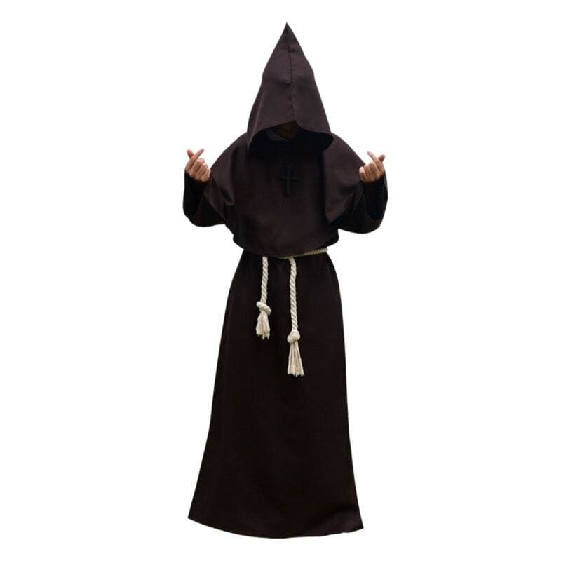 Halloween Robe Hooded Cloak Costume Just For You - Brown / S / Other - Halloween