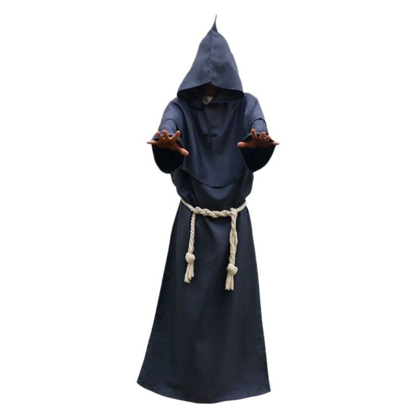 Halloween Robe Hooded Cloak Costume Just For You - Gray / S / Other - Halloween