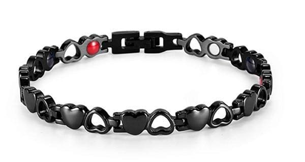Heart Shape Magnetic Therapy Bracelet - BK+tool SET - Chain & Link Bracelets