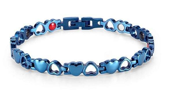 Heart Shape Magnetic Therapy Bracelet - BL + Tool SET - Chain & Link Bracelets