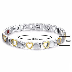 Heart Shape Magnetic Therapy Bracelet - Chain & Link Bracelets