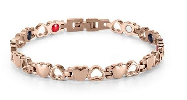 Heart Shape Magnetic Therapy Bracelet - RG + Tool SET - Chain & Link Bracelets
