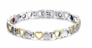 Heart Shape Magnetic Therapy Bracelet - SG + Tool SET - Chain & Link Bracelets